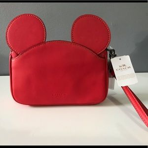 Coach x Disney Wristlet with Mickey Ears - Red